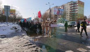 Шествие «Бессмертного батальона» в городе Раменское