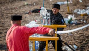 Рубка шашкой на Фестивале «Kazaki.ru»